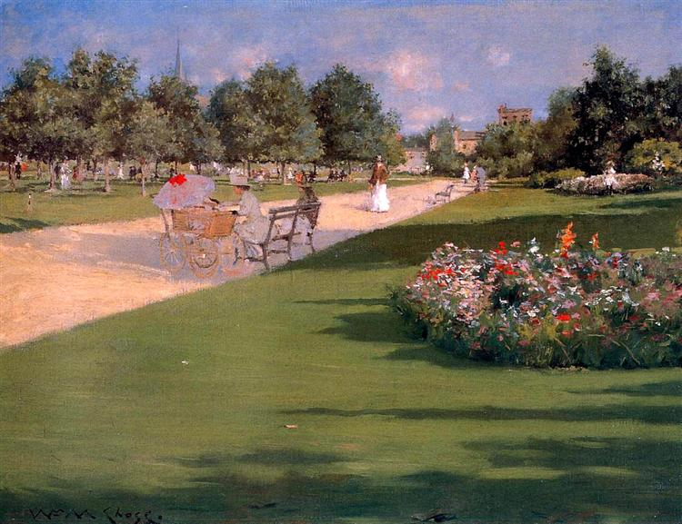 Tompkins Park, Brooklyn, 1887 - William Merritt Chase