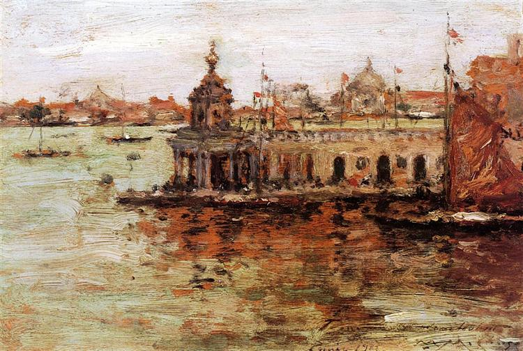 Venice - View of the Navy Arsenal, 1913 - William Merritt Chase