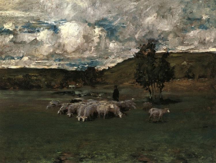 View near Polling, 1875 - 1876 - William Merritt Chase