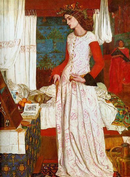 La belle Iseult, 1858 - William Morris