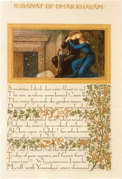 The Rubaiyat of Omar Khayyam, text and decoration by Morris with illustrations by Burne-Jones - William Morris