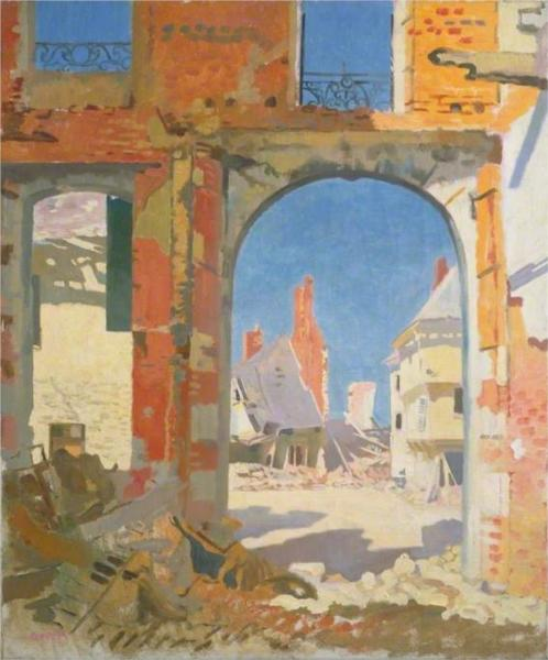 The Girls' College, Péronne, 1917 - William Orpen