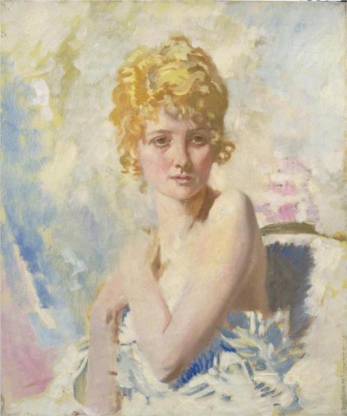 The Refugee (Yvonne Aubicq), 1917 - William Orpen