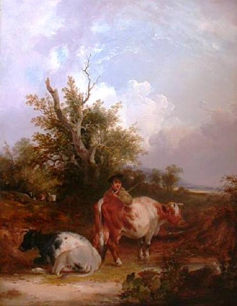 The Cowherd - William Shayer