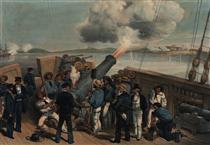 Bombardment of Bomarsund - Вільям Сімпсон