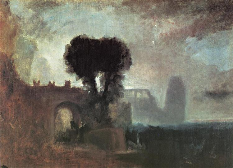 Archway with Trees by the Sea, c.1828 - J.M.W. Turner
