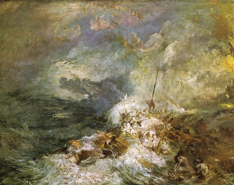 Fire at Sea, c.1835 - J.M.W. Turner