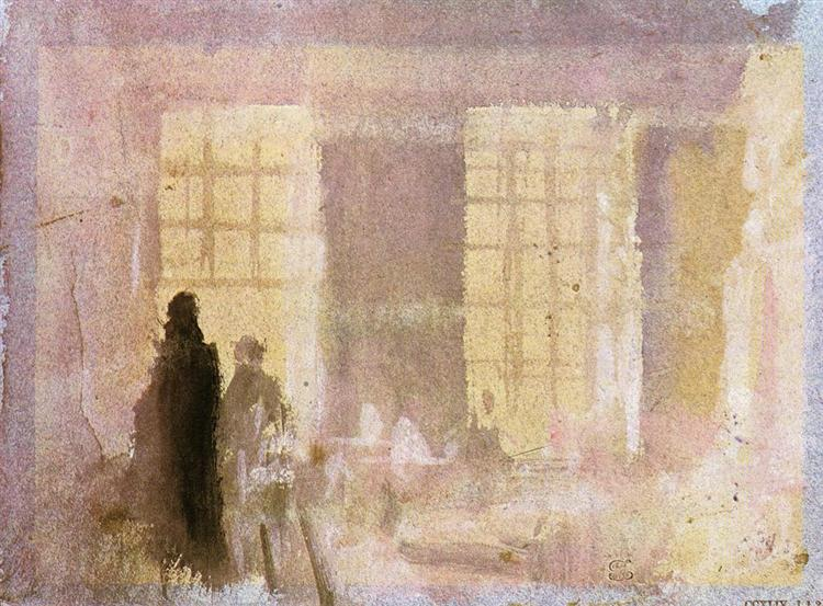 Interior at Petworth, 1828 - J.M.W. Turner