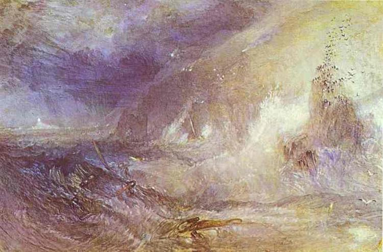 Longship Lighthouse, Lands End, c.1834 - c.1835 - Joseph Mallord William Turner