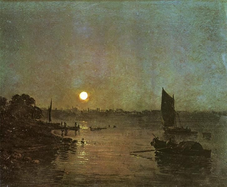 Moonlight, A Study at Millbank - J.M.W. Turner