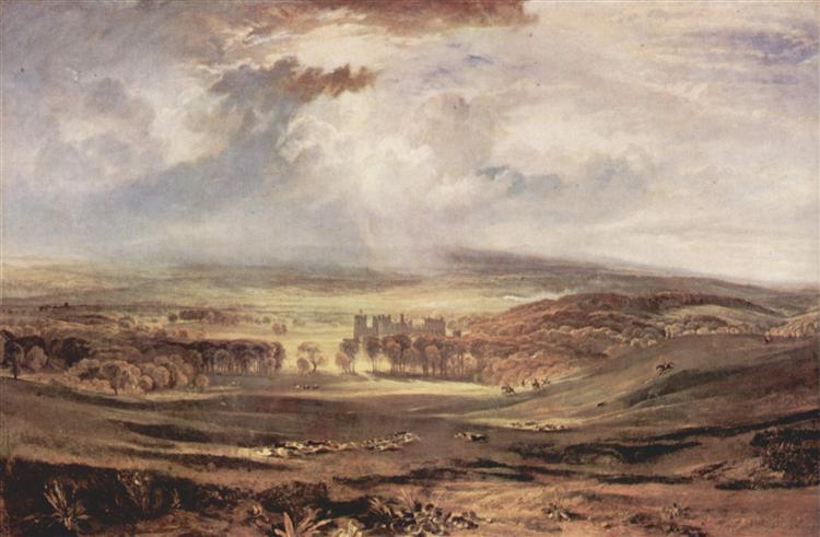 Raby Castle, Residence of the Earl of Darlington, 1818 - J.M.W. Turner