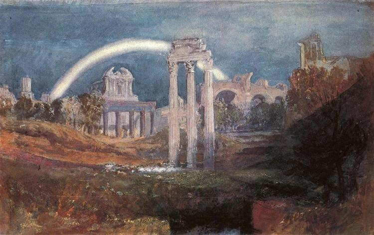Rome, The Forum with a Rainbow, 1819 - J.M.W. Turner