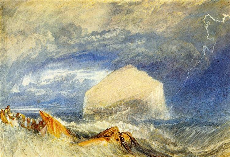 The Bass Rock, for The Provincial Antiquities of Scotland, c.1824 - J.M.W. Turner