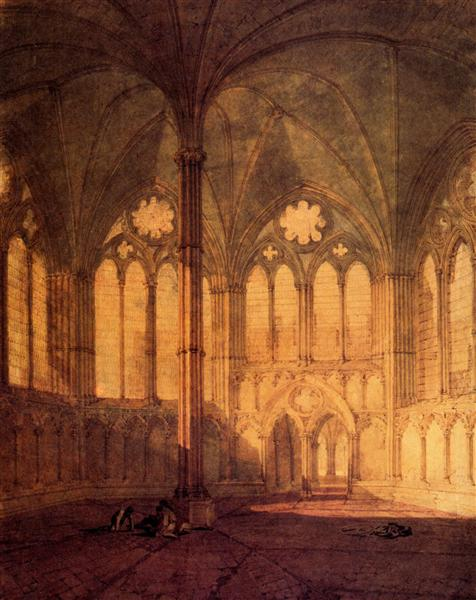 The Chapter House, Salisbury Chathedral - J.M.W. Turner