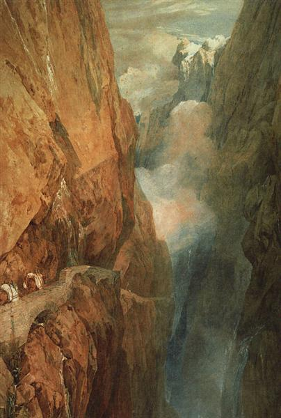 The Passage of the St. Gothard, 1804 - J.M.W. Turner