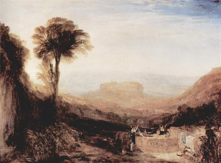 View ofOrvieto, 1828 - 1829 - J.M.W. Turner