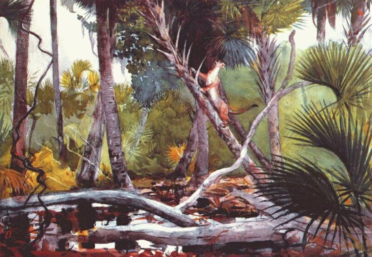 In the jungle, Florida - Winslow Homer