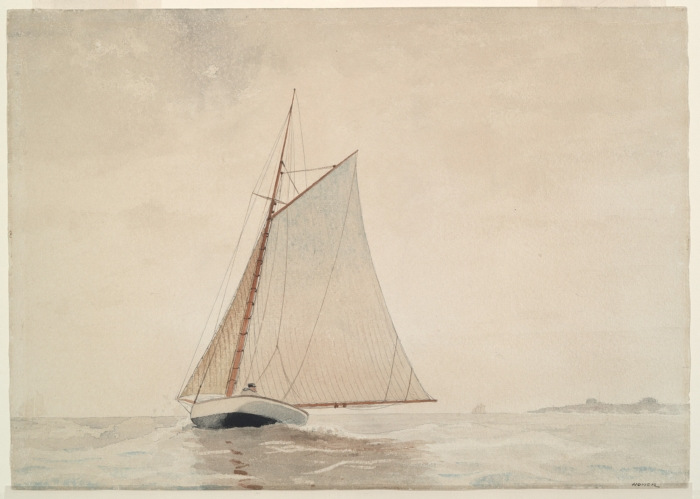 Sailing off Gloucester - Winslow Homer