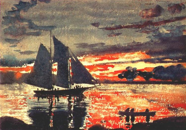 Sunset Fires, 1880 - Winslow Homer