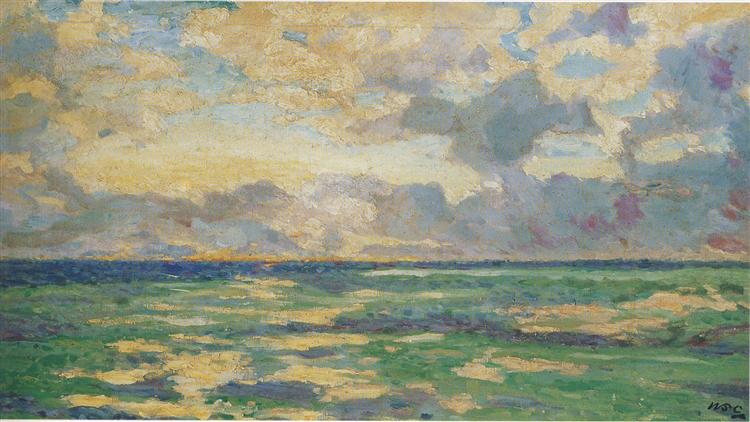 Daybreak at Cassis, 1920 - 温斯顿·丘吉尔