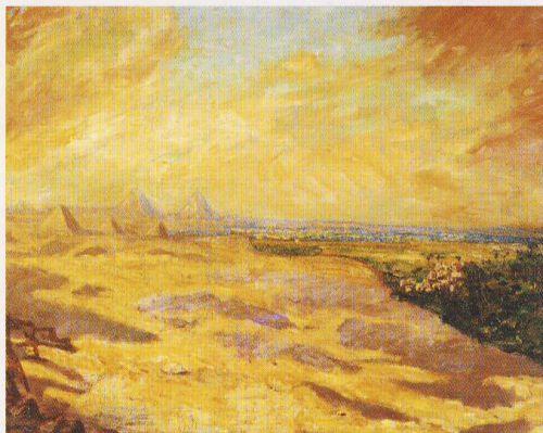Distant View of the Pyramids, 1921 - Уинстон Черчилль