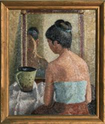 Untitled - Woman in Front of Mirror - Ясуо Куниёси