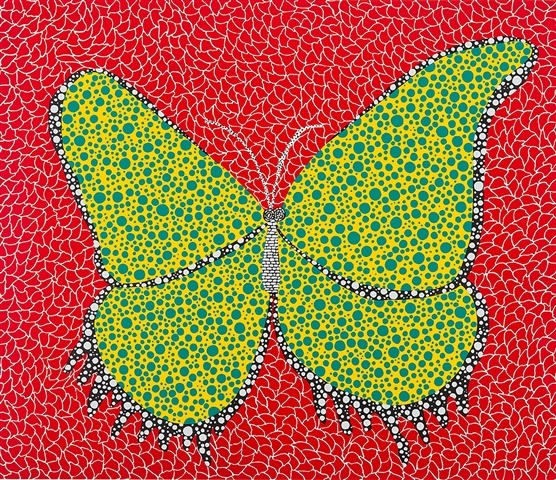 butterfly 1988 yayoi kusama. Black Bedroom Furniture Sets. Home Design Ideas