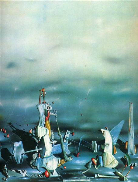 Palace on windows rocks, 1942 - Yves Tanguy