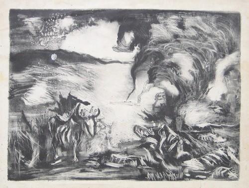 Landscape with Steer, 1937 - Jackson Pollock