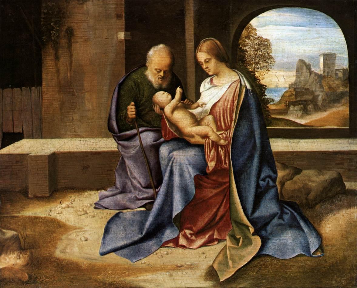 The Holy Family (Madonna Benson), 1500 - Giorgione ...