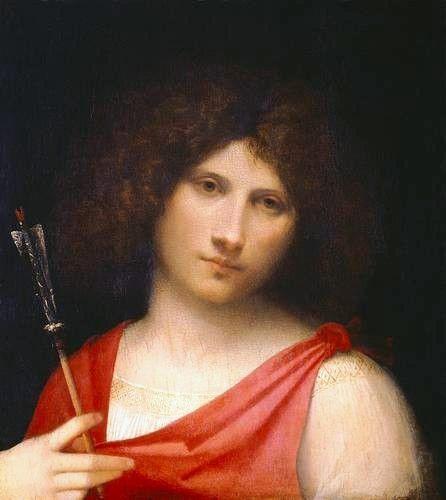 Youth holding an Arrow, 1505 - Giorgione